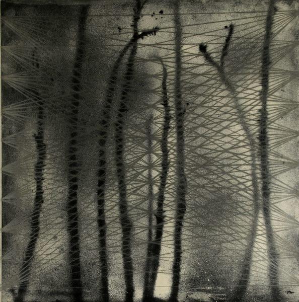 Ristivalotus 1 (50 x 50 cm, unique print, etching, aquatint)